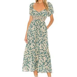 Free People Ellie Printed Maxi Dress NWT